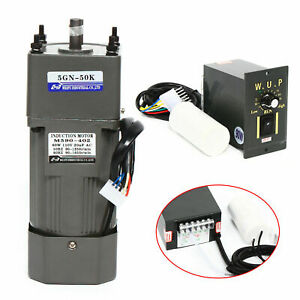 90w Ac Gear Reduction Motor Electric variable Speed Control Reversible 110v New