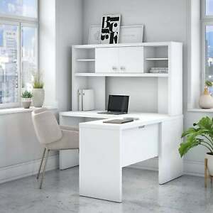 Echo L shaped Desk With Hutch From Office By Kathy Ireland Large