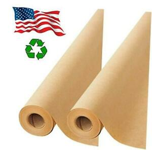 2 Pack Brown Kraft Paper Made In Usa 17 75 X 1200 Per Roll 200 Feet Ideal