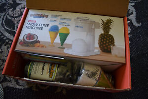 New Hawaiian Shaved Ice Machine Party Package Complete Cups machine syrup