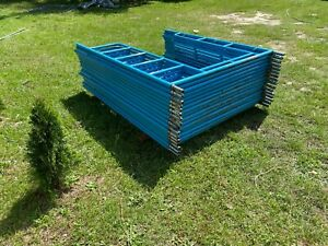 Scaffolding S style Blue matches Safway 16 Frames With Stack Pins Included