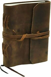 Handmade Rustic Leather Journal Sketch Notebook Bound Writing Diary Deckle Book