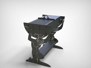 Grill Atlant Fire Pit Mangal Dxf Files For Plasma Laser Waterjet Or Cnc