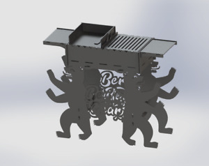 Grill Berlin Bear Fire Pit Dxf Files For Plasma Laser Waterjet Or For Cnc Diy
