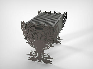 Grill Phoenix Fire Pit Mangal Dxf Files For Plasma Laser Waterjet Or Cnc