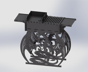 Grill Dragon Fire Pit Dxf Files For Plasma Laser Waterjet Or For Cnc Diy
