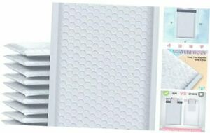Bubble Mailers 6x10 Inch 25 Pack Poly Padded Envelopes Small 6x10 25pc White