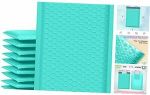 Bubble Mailers 6x10 Inch 25 Pack Poly Padded Envelopes Small 6x10 25pc Teal