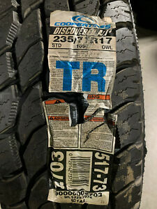 2 New 235 75 17 Cooper Discoverer A T3 Outlined White Letter Tires