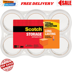 Scotch 3m Storage Packing Tape 6 Rolls Heavy Duty Shipping Packaging Moving New