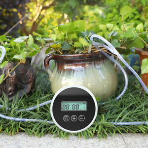 Drip Irrigation System Set Pump Pipe Automatic Watering Device Timer Garden Kitn