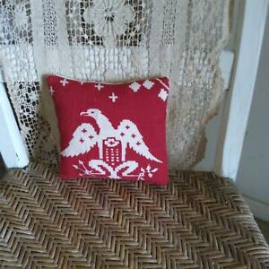 Farmhouse Eagle Red White Pillow Coverlet Head To The Left