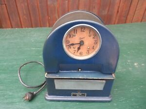 Beautiful Vintage Simplex Punch Time Clock Works In Original Finish