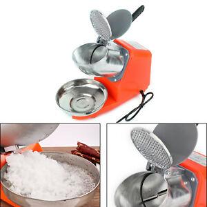 300w Electric Ice Crusher Machine Shaver Shaved Ice Snow Cone Maker 143lbs Org P