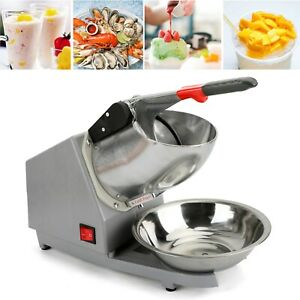 Ice Shaver Machine Snow Cone Maker Shaved Ice 143lbs Electric Crusher Shaving A3
