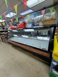 Deli Case Curved Glass Display Refrigerator Bakery Pastry Meat Case Like N E W