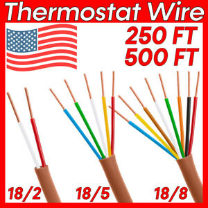 18awg Thermostat Unshielded Cable 2 5 8 Conductor 18 2 18 5 18 8 Thermostat Wire