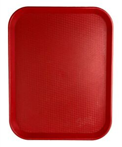 Vintage 1976 Cambro Fast Food Tray Red Plastic Woven Texture 17 75 X 14