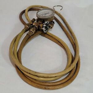 J b Industries Gauge With Yellow Jacket Charging Hoses R 22 r 12 r 502