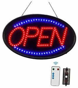 Led Open Sign Large 23x14 Inch Business Open Sign With Remote Electric