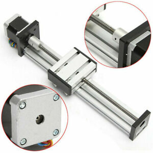 400mm Cnc Linear Actuator Stage Lead Screw Slide Rail Guide 42 Stepper Motor