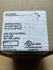 Nvent Erico Gtc182l Cable To Ground Rod Rod Diameter 3 4 3 0 Awg