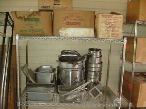Used Restaurant Steam Table Caterering Pots Pans Lot
