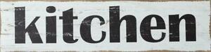 Primitive New Large Kitchen Wall Sign In Distressed Wood 47 Inch