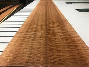 Quilted Sapele Wood Veneer 2 Sheets 122 x 5 514d