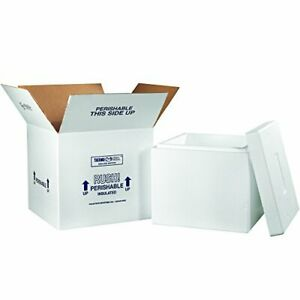 Boxes Fast Bf249c Insulated Shipping Box With Foam Container 16 3 4 X 16 3 4
