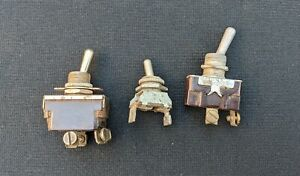 Lot Of 3 Vintage Switches Toggle Toggle Lot G