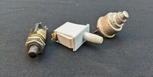 Lot Of 3 Vintage Switches Toggle Toggle Lot F