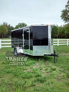 New 2021 6x12 6 X 12 V nosed Enclosed Cargo Motorcycle Trailer Ramp Side Door