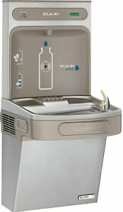 Elkay Lzsg8wsk Ezh2o Wall Mounted Drinking Fountain And Hands Stainless Steel