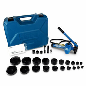 Temco 4 Hydraulic Knockout Punch Electrical Conduit Hole Cutter Set Ko Tool Kit