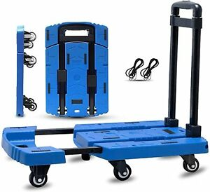 Apollo Folding Flat Cart transformable Moving Pallet Dolly Hand Truck Load 440lb