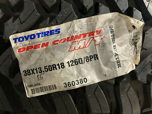 2 New Lt 38 13 50 18 Lrd 8 Ply Toyo Open Country M T Mud Tires