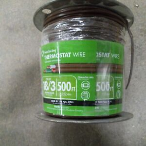 Southwire Thermostat bell Wire 500 Ft 18 3 Jacketed Low Voltage Solid Brown