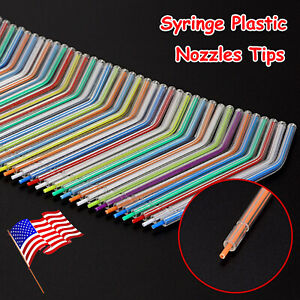 50 1000pcs Disposable Nozzles Tip Tube For Dental Triple Syringe Assorted color