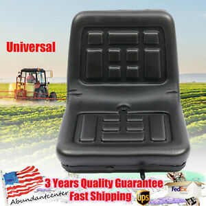 Universal Tractor Seat Pu Leather Anti rust Lawn Mower Seat With Slide Rail