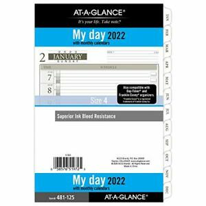 2022 Daily Planner Refill By At a glance 12010 Day timer 5 1 2 X 8 1 2 Size