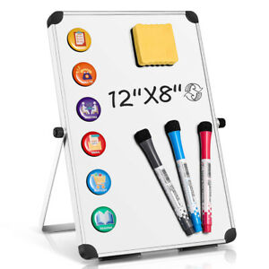 Usa Dry Erase Board Double Sided White Board With Stand For Home School 12 X 8