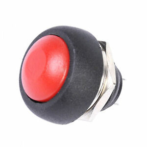 12mm Waterproof Momentary On off Push Button Mini Round Switch Red