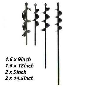 Planting Auger Spiral Hole Drill Bit Garden Yard Earth Planter Digger Multi size
