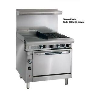 Imperial Ir 2 g24 c 36 In 2 burner Gas Range W Griddle And Convection Oven