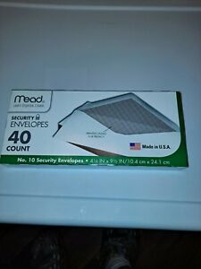 Mead Security Envelopes 10 40 Count 75357 4 1 8 X 9 1 2