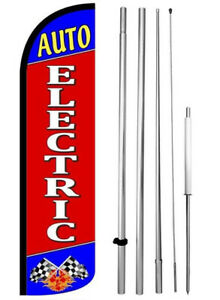 Auto Electric Windless Swooper Flag Kit 15 Feather Banner Sign Rz h