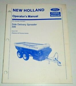 New Holland 306 Side Delivery Spreader Operators Owners Manual Original Nh 3 92