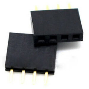 20x 4 Pin 2 54mm Female Stackable Header Connector Socket For Arduino Shie F4