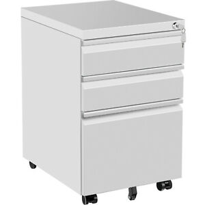 Vevor Office File Cabinets 19 7 X 15 6 3 Drawer White File Cabinet With Lock